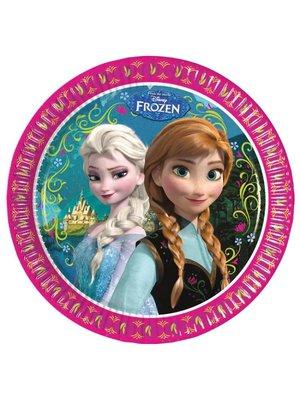 Frozen Disney borden (groot) 8 stuks