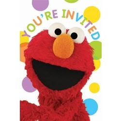 Elmo uitnodigingen verjaardag