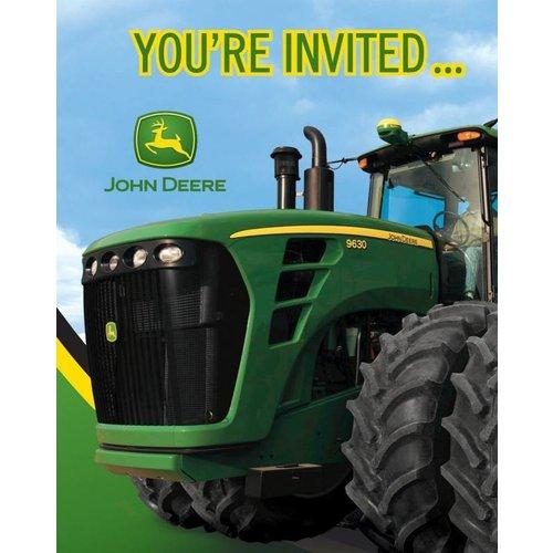 John Deere uitnodigingen 8x