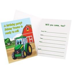 Johnny tractor uitnodigingen 8x