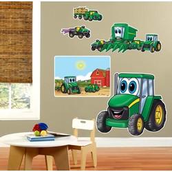 Johnny Deere mega muur stickers (met ogen)