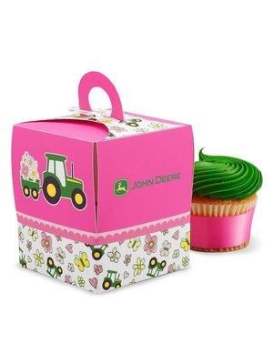John Deere meisje traktatie / cupcake doosjes