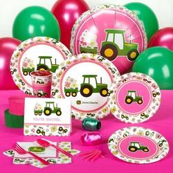 John Deere feestpakket meisjes 8 persoons.