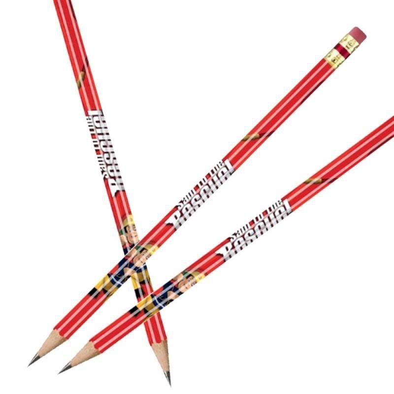 8 potloden, sam de brandweerman