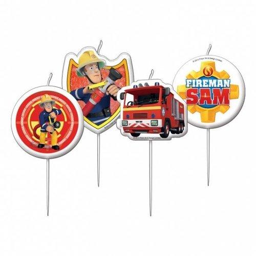Mini taart kaarsjes, brandweerman Sam