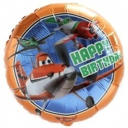 Planes folie ballon tekst Happy Birthday