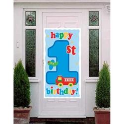 Fun at one boy deur decoratie