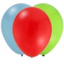 Fun at one boy ballonnen (groen, rood en lichtblauw)