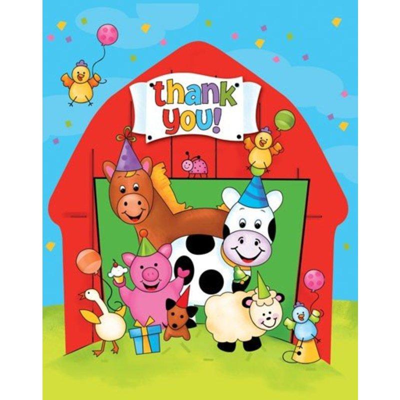 Bedankt kaartjes, boerderijfeestje 1 jaar