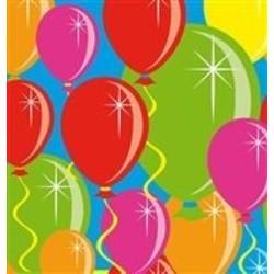 Servet, met afbeelding ballonnen