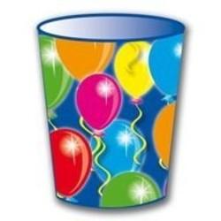Beker, met afbeelding ballonnen