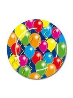 Bord 23 cm, met afbeelding van ballonnen