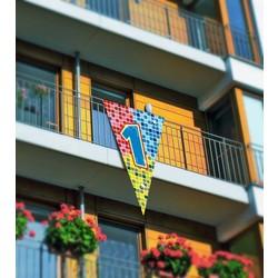 Grote driehoek vlag afbeelding 1 (serie blocks)