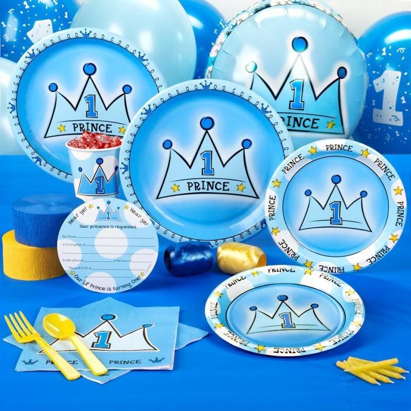 1e verjaardag Prince, compleet feestpakket voor 8 personen