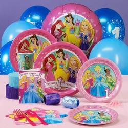 Disney 1e verjaardag Princess feestpakket voor 8 personen