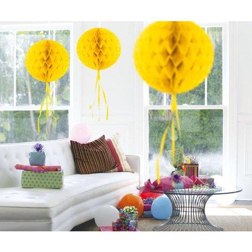 Honingraat bal, geel