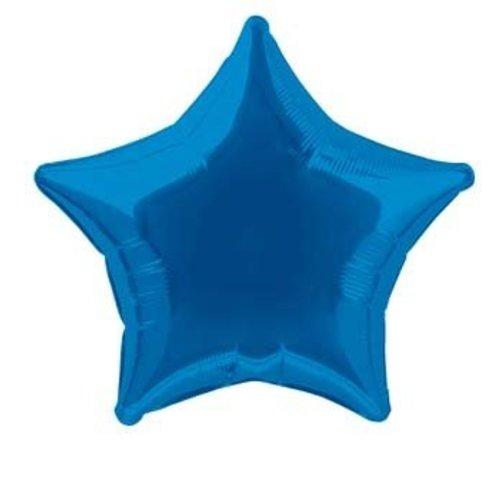 Folie ballon ster donker blauw