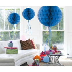Honingraat bal, donker blauw