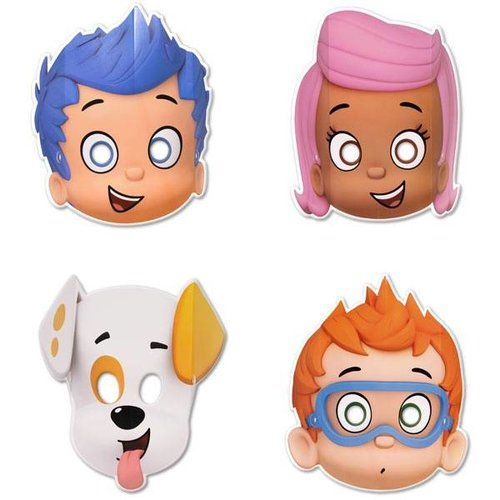 Bubble Guppies maskers 8x