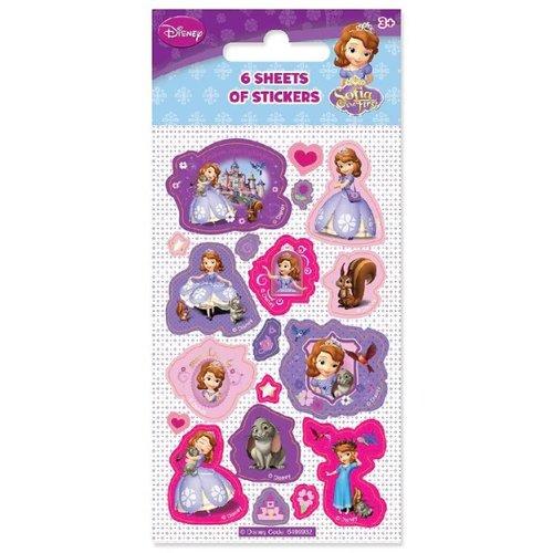 uitdeelkadootjes Sofia het prinsesje (6 sticker vellen)