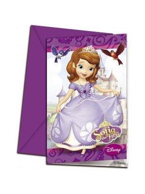 Sofia het prinsesje uitnodigingskaarten.