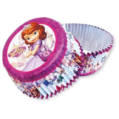Sofia het prinsesje 24x cupcakes bakvormpjes