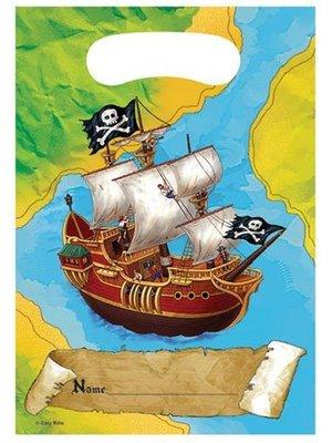 Feestzakjes piratenschat, 8 stuks