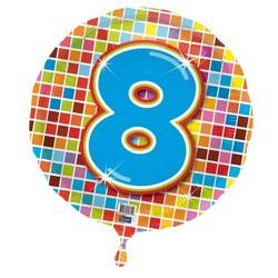 Folie ballon 8 jaar blocks