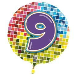 Folie ballon 9 jaar blocks