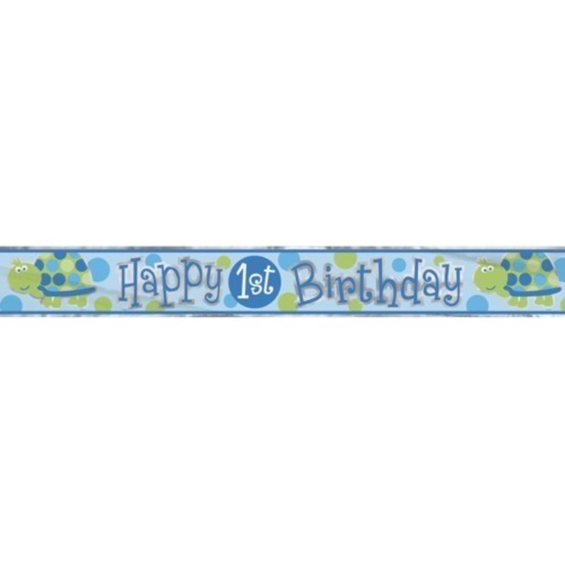 Banner folie, 1e verjaardag schildpad