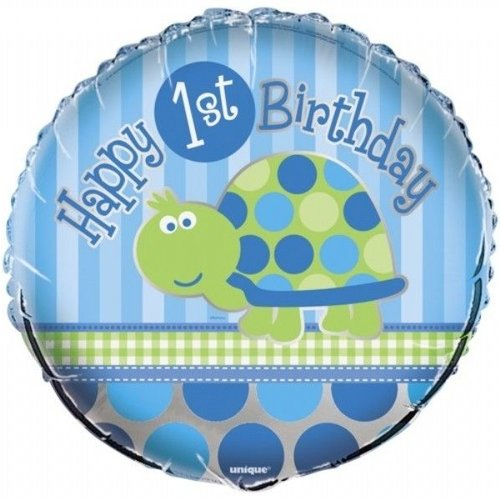 Folie ballon, 1e verjaardag Schildpad