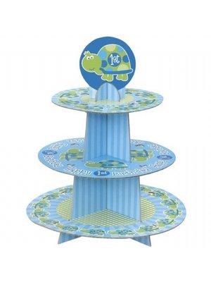 Cupcake standaard, 1e verjaardag schildpad