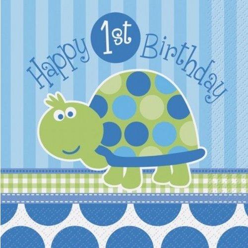 Servetten, 1e verjaardag schildpad