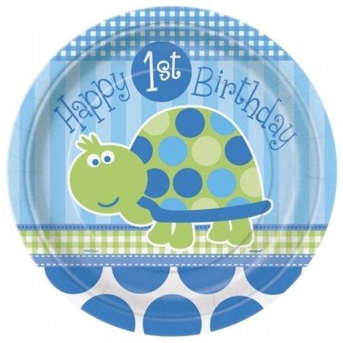 Grote borden 8x, 1e verjaardag schildpad