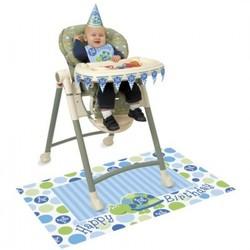Kinderstoel versiering, 1e verjaardag schildpad