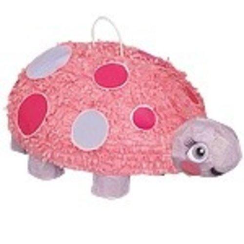 Pinata roze, 1e verjaardag lieveheersbeestje roze