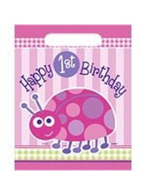 Feestzakjes, 1e verjaardag lieveheersbeestje roze
