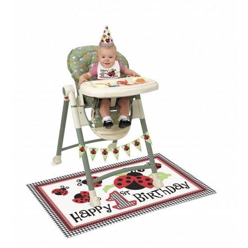 Kinderstoelversiering eerste verjaardag, Lively Ladybug