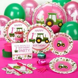 John Deere tractor meisje feestpakket 1e verjaardag
