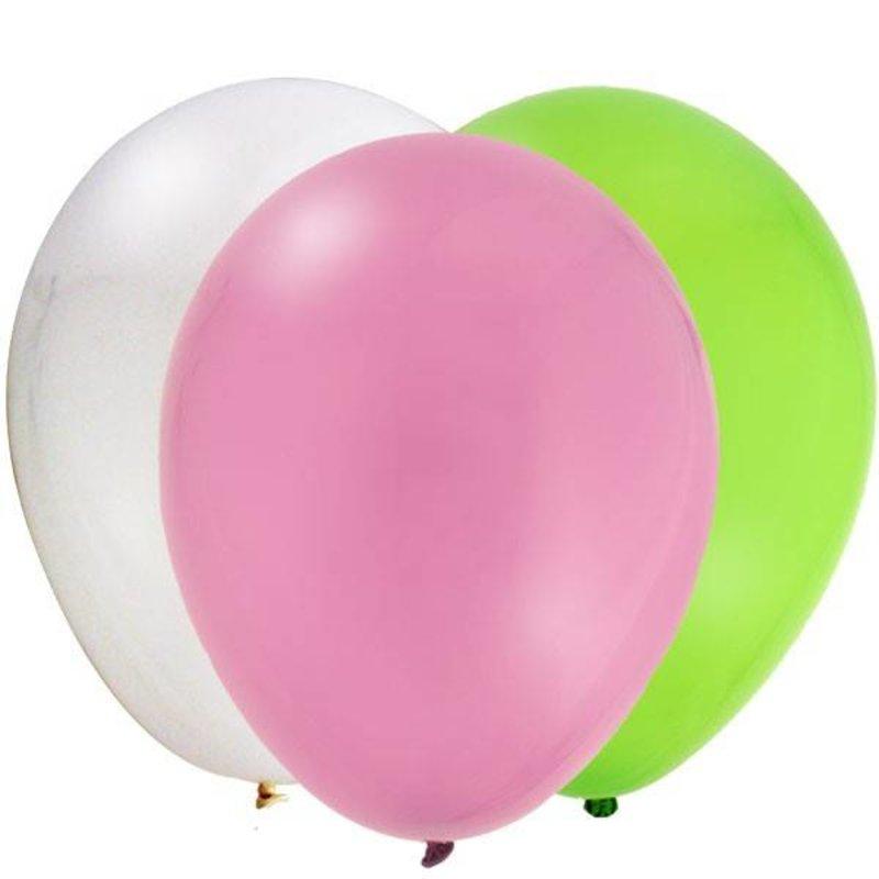 Ballonnen, lime groen, hard roze en wit