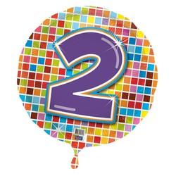 Folie ballon 2 jaar blocks