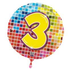 Folie ballon 3 jaar blocks
