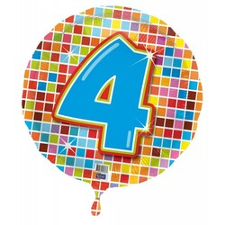 Folie ballon 4 jaar blocks