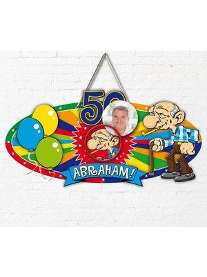 Abraham deurbord met foto