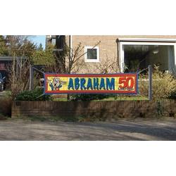 Abraham straat spandoek