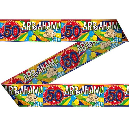 50 jaar Abraham versiering afzet lint
