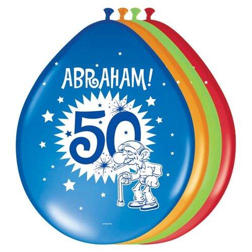 50 jaar Abraham feestartikelen ballonnen