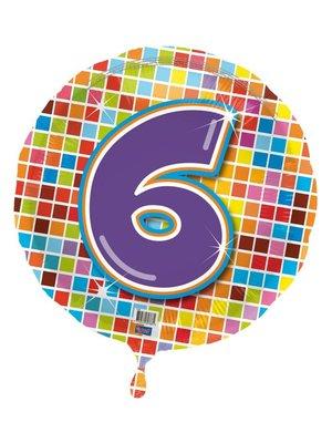Folie ballon 6 jaar blocks
