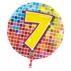 Folie ballon 7 jaar blocks