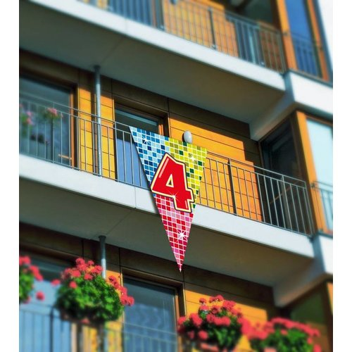 Grote driehoek vlag afbeelding 4 (serie blocks)